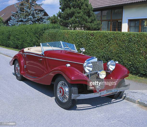 Red Vintage Convertible Car