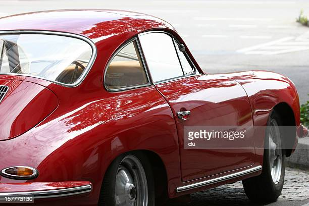 red vintage porsche 356 - vintage car stock pictures, royalty-free photos & images