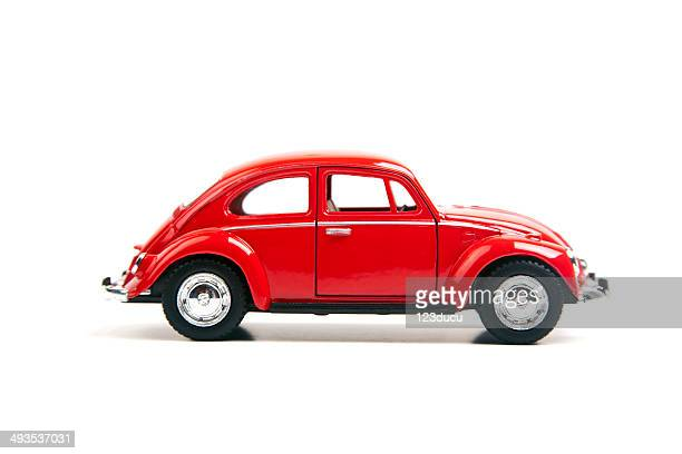 red volkswagen beetle - volkswagen stock pictures, royalty-free photos & images