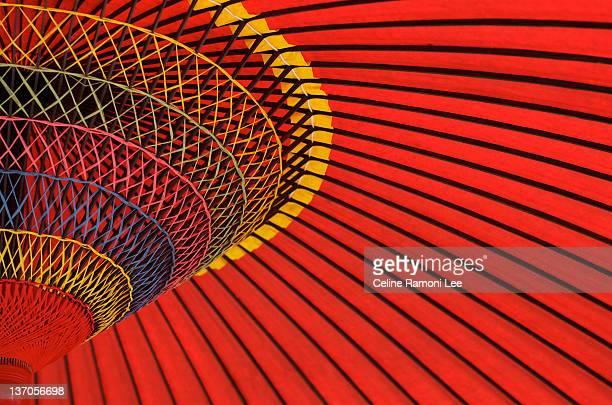 Red wagasa (traditional Japanese umbrella)