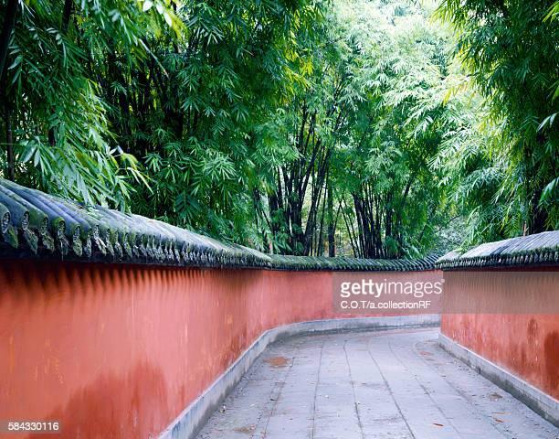 Red Wall Pavement of Wu Hou Shrine, Chengdu China