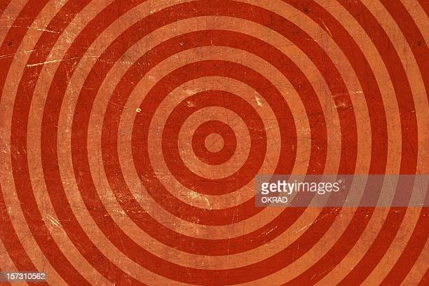 Red Washed out-bullseye Grunge Background