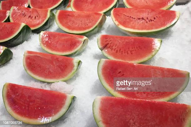 Red Watermelons on Ice