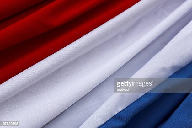 red white and blue fabric textile - franse vlag stockfoto's en -beelden