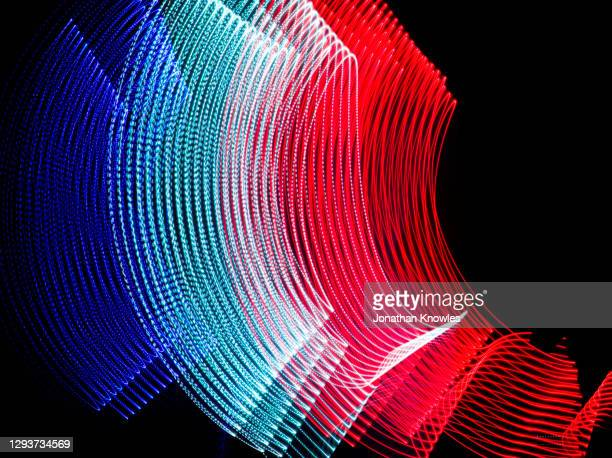 red, white and blue light lines - national flag stock pictures, royalty-free photos & images