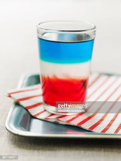 Red White and Blue Shot