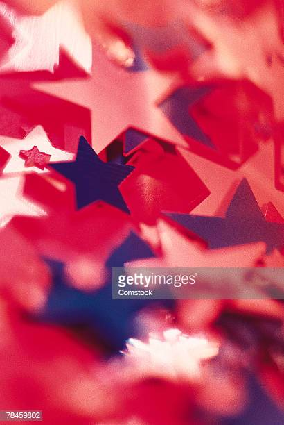 Red , white , and blue stars