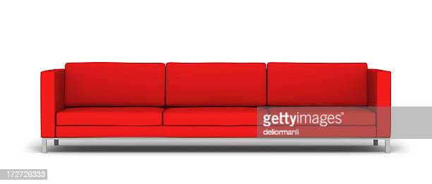 Rouge large canapé