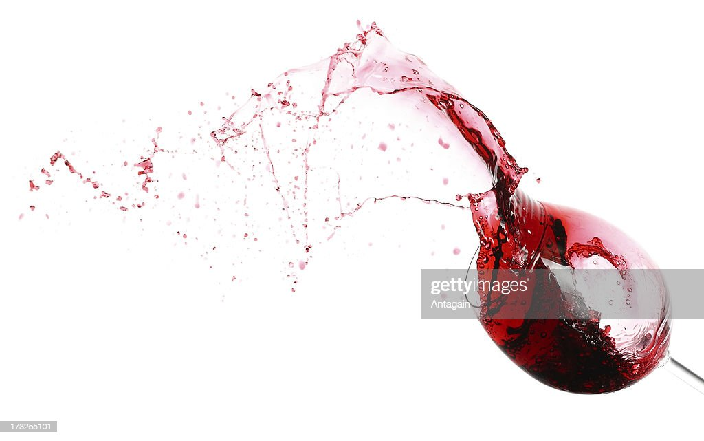 Red wine and wineglass : Stock Photo