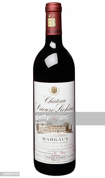 bouteille de vin rouge - margaux photos et images de collection