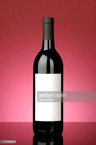 red wine bottle with blank label - cabernet sauvignon grape stock photos and pictures