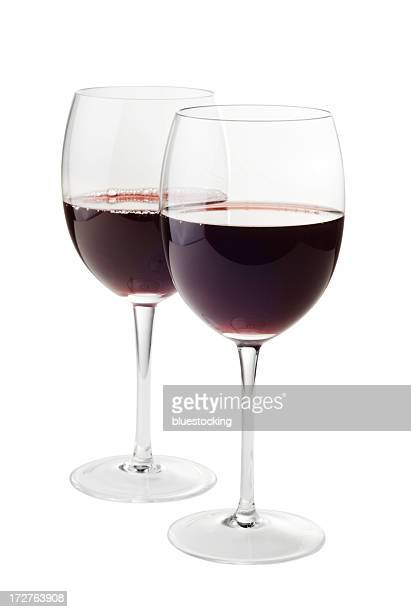 red wine for two - two objects stock photos and pictures