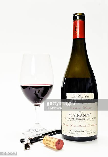 red wine (cote du rhone) - rhone stock pictures, royalty-free photos & images