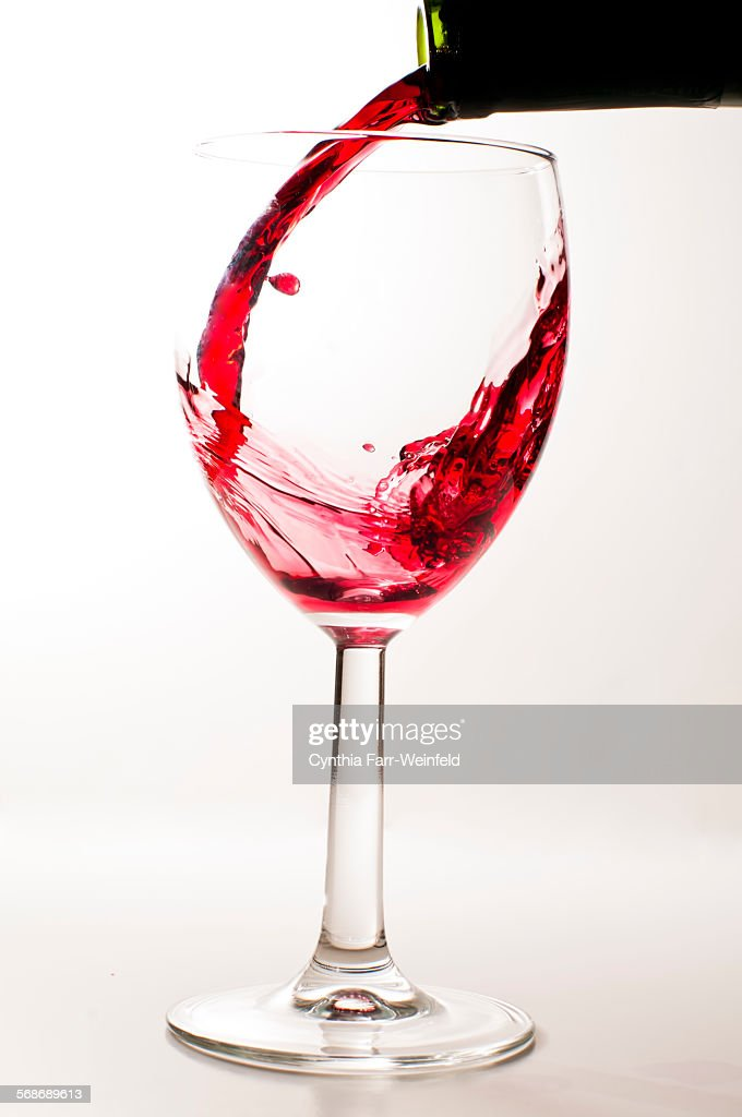 Red Wine Pour : Stock Photo