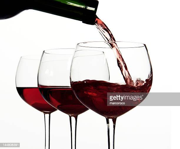 Red wine, Pouring