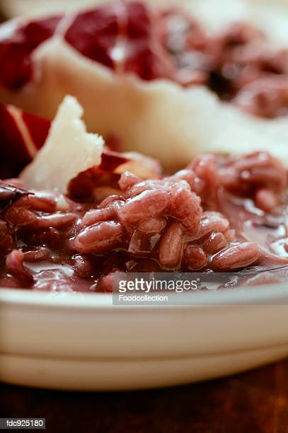 Red wine risotto with radicchio from Veneto