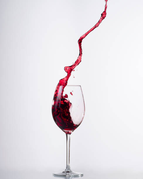 Red Wine Splashing Glass Front - Fine Art prints