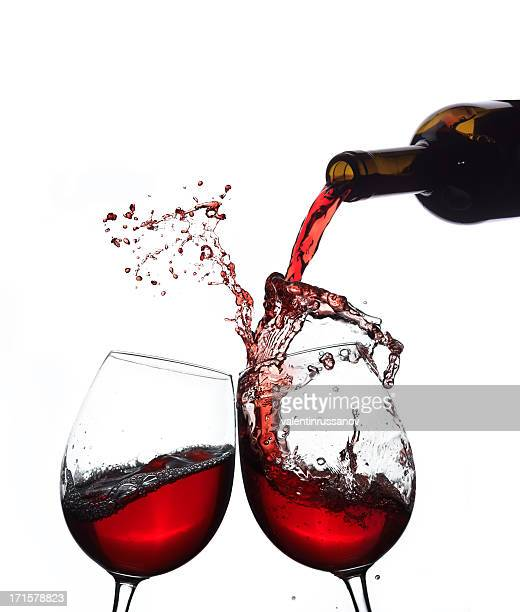 Red wine splashing