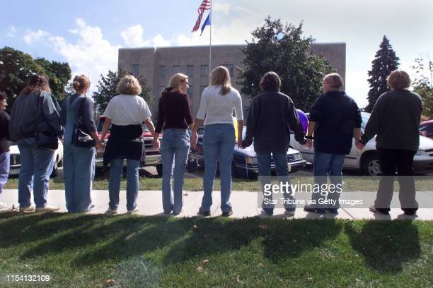 Red Wing MN Friday9/17/99 Twenty five people representing Justice for Jessica held hands and stood in a silent protest outside the Goodhue County...