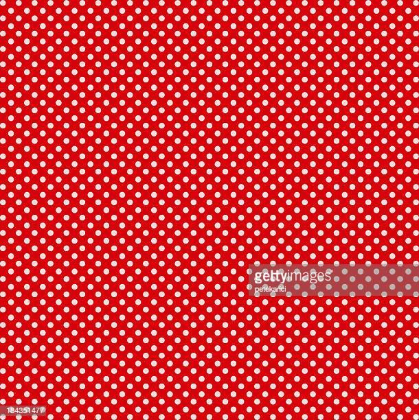 Rosso con pois bianchi
