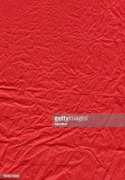 Red Runzlig Papier
