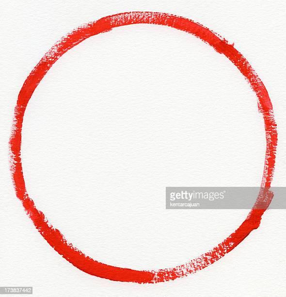 zero sur papier aquarelle rouge