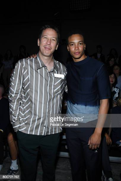 Reda Kateb and Corentin Fila attend the Lanvin Menswear Spring/Summer 2018 show as part of Paris Fashion Week on June 25 2017 in Paris France