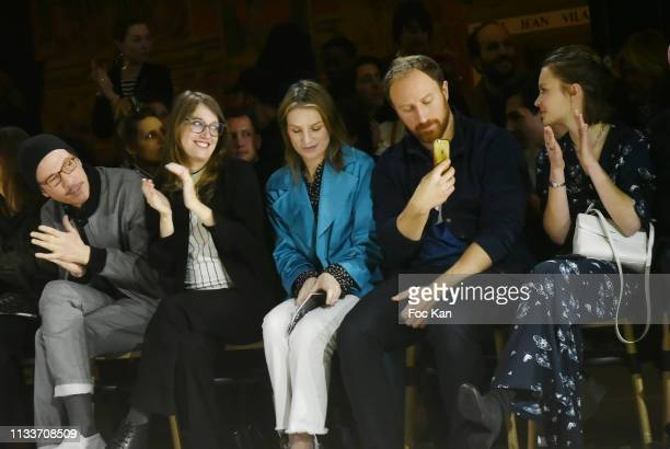 Reda Kateb Fanny Sidney Missia Piccoli Etienne GuillouKervern and Diane Rouxel attend the Agnes B show as part of the Paris Fashion Week Womenswear...