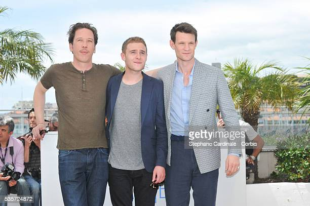 Reda Kateb Ian De Caestecker and Matt Smith at the 'Lost River' photocall during the 67th Cannes Film Festival