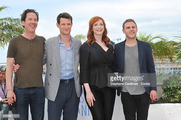 Reda Kateb Matt Smith Christina Hendricks and Ian De Caestecker at the 'Lost River' photocall during the 67th Cannes Film Festival