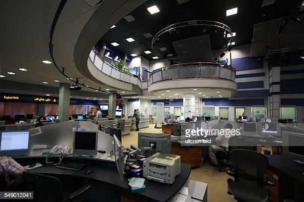Redaktion bei Al Dschasira Al Jazeera Fernsehsender in Doha Katar
