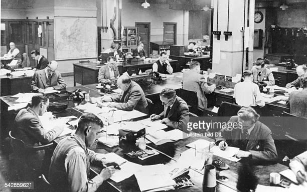 Redaktion der britischen Zeitung 'Daily Herald' 1950er Jahre