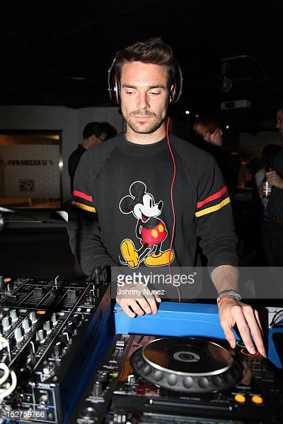 Redbull Soccer Player and DJ Heath Pearce attends the FIFA 13 Launch Tournament at SPiN New York on September 24, 2012 in New York City.