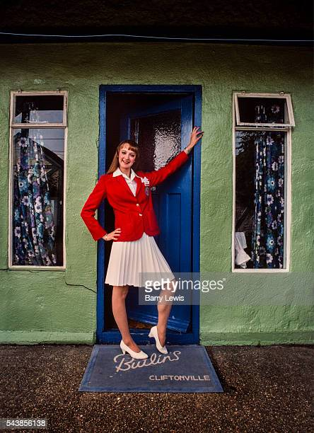 Redcoat posing in front of one of her chalet The idea for the Red Coats came to Butlin early on in the Skegness Camp's first season He saw the first...