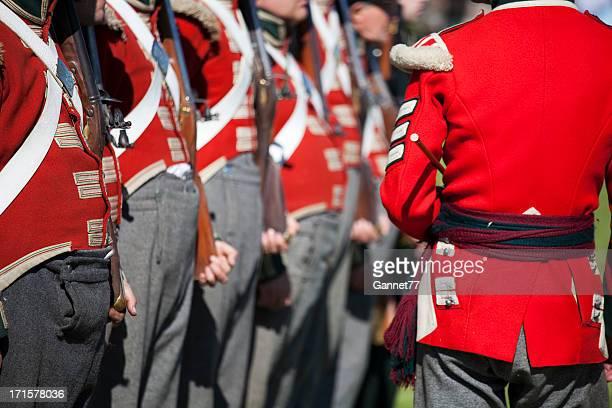 Redcoat Sergeant inspecting his men