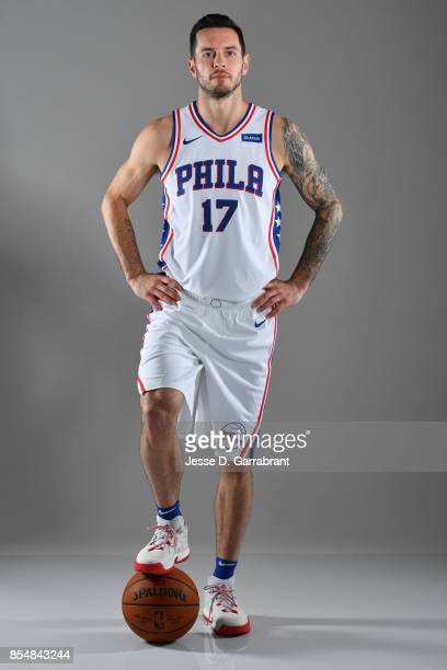 Reddick of the Philadelphia 76ers poses for a portrait during 201718 NBA Media Day on September 25 2017 at Wells Fargo Center in Philadelphia...