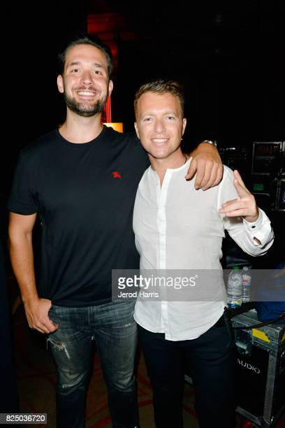 Reddit cofounder Alexis Ohanian and PTTOW cofounder/CEO Roman Tsunder attends WORLDZ Cultural Marketing Summit 2017 at Hollywood and Highland on July...