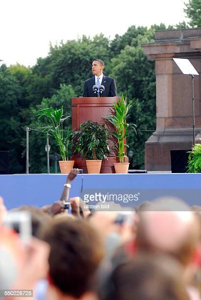 Rede des designierten Präsidentschaftskandidaten Barack Obama an der Siegessäule in Berlin