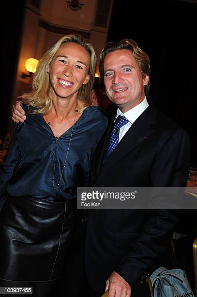 rederic Beigbeder's brother businessman Charles Beigbeder President from Poweo and his wife Carine Beigbeder President from Pack and Fly attend Un...