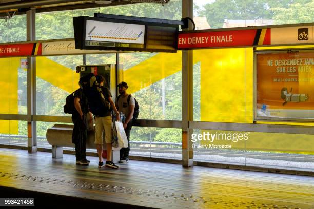 Redesign of the Demey metro STIB/MIVB station in homage of the victory of the Red devils the Belgium National Football team in the FIFA world cup