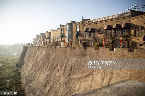 Redeveloped buildings stand in the Old City in Kashgar Xinjiang autonomous region China on Thursday Nov 8 2018 Although it represents just 15 percent...