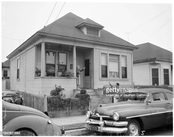 Redevelopment project 21 April 1954 Mrs Antonina Distefano and sonRobert Distefano 18 years in 5room frame house at 1542 Naud Street Los...