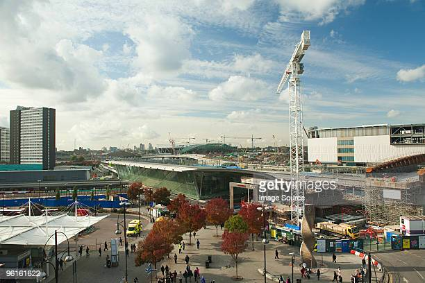 redevelopment work around stratford station - stratford london stock pictures, royalty-free photos & images