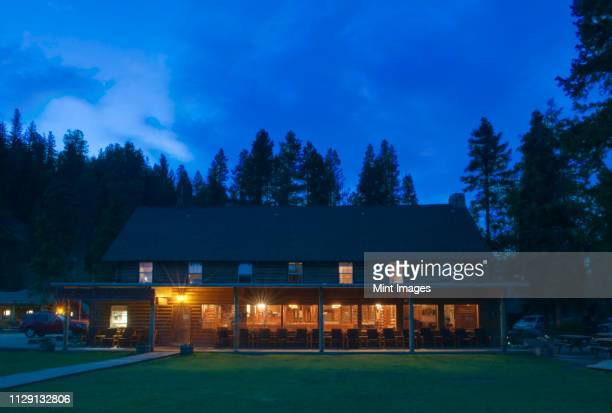 redfish lake lodge - national park stock pictures, royalty-free photos & images