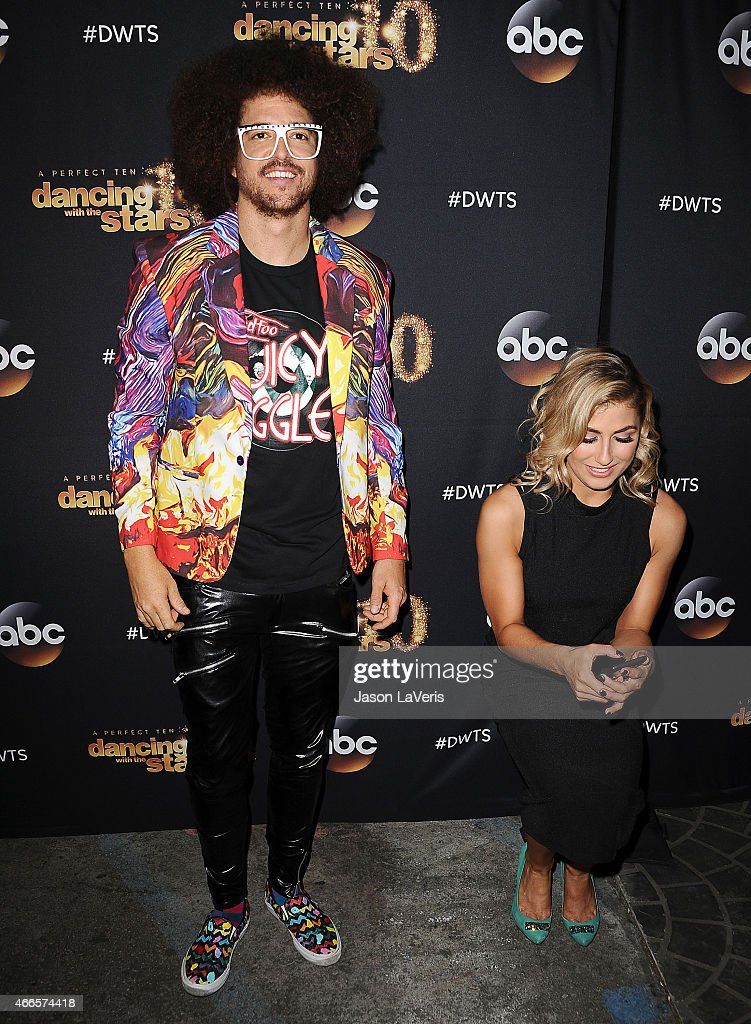 Redfoo and Emma Slater attend ABC's 'Dancing With The Stars' season premiere at HYDE Sunset: Kitchen + Cocktails on March 16, 2015 in West Hollywood, California.