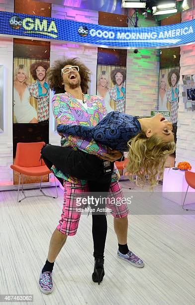 AMERICA Redfoo and Emma Slater dance onto GOOD MORNING AMERICA 3/24/15 airing on the Walt Disney Television via Getty Images Television Network