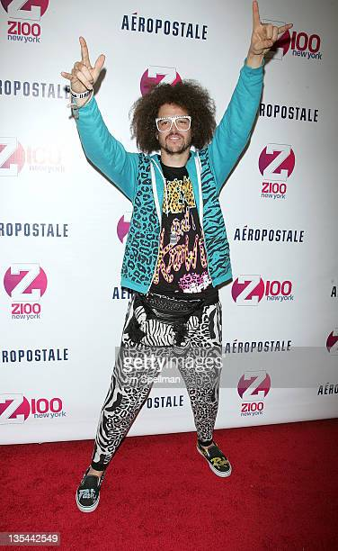 RedFoo of LMFAO attends Z100's Jingle Ball 2011 presented by Aeropostale at Madison Square Garden on December 9 2011 in New York City