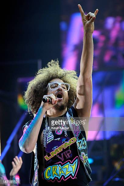 Redfoo of LMFAO performs at Nassau Veterans Memorial Coliseum on June 26, 2012 in Uniondale, New York.