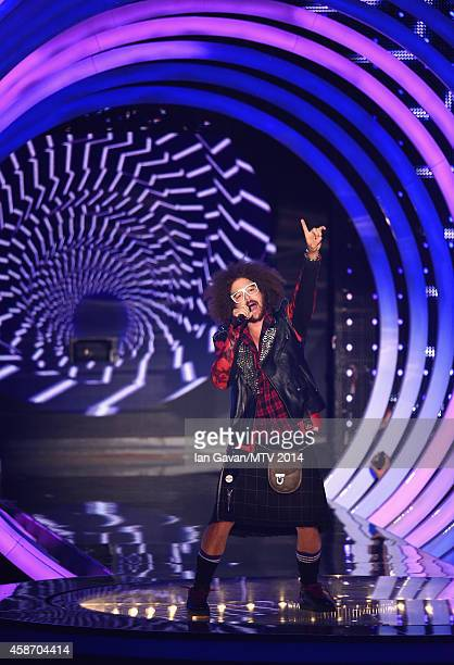 Redfoo performs on stage during the MTV EMA's 2014 at The Hydro on November 9 2014 in Glasgow Scotland