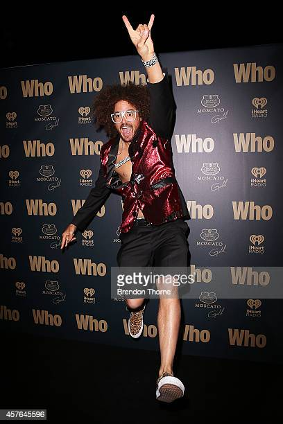 Redfoo poses at WHO's sexiest people party 2014 at Fox Studios on October 22 2014 in Sydney Australia